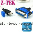 Z-TEK 力特 USB to Parallel 轉接線 (ZE-396)