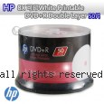 HP 8X 可印White Printable DVD+R Double Layer 50片
